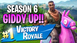 "Season 6 ""Giddy-Up"" Skin!! (13 Kill Solo Victory) - Fortnite: Battle Royale Gameplay"