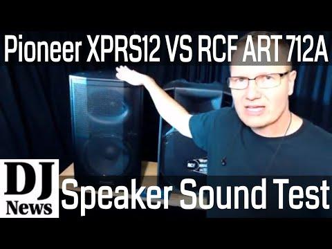 #RCF_Audio ART 712A MK4 VS #PioneerProAudio XPRS 12 Powered DJ Speaker Comparison   Disc Jockey News