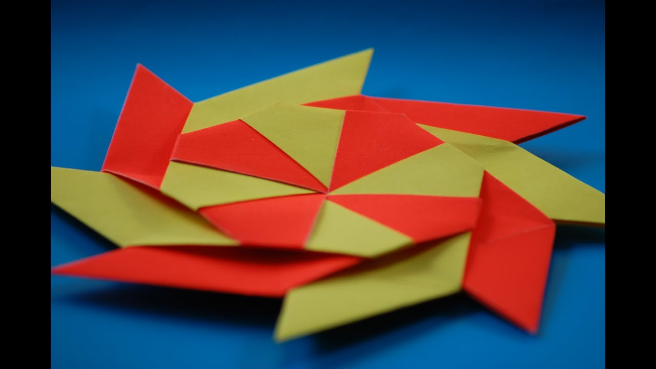 How to Make a Transforming origami Ninja Star - YouTube - photo#27