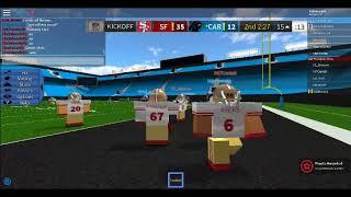 ROBLOX San Francisco 49ers VS Carolina Panthers (INSANE BATTLE PART 2!!!)