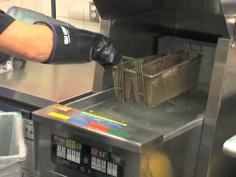 How to clean a commercial deep fryer  baskets  YouTube