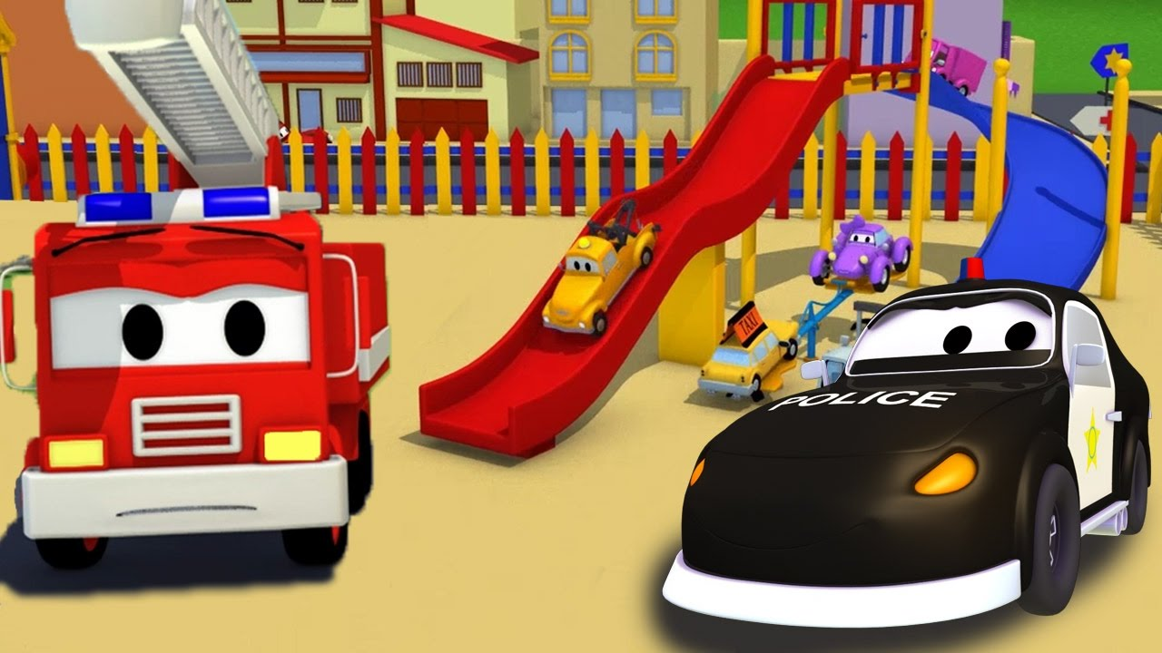 Car patrol et l 39 accident de tobogan camions dessins - Dessin de toboggan ...