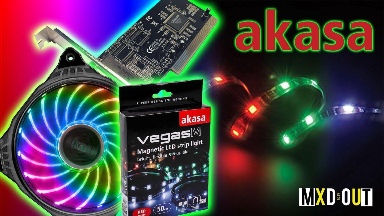 Akasa Vegas RGB Case lighting and Vegas X7 RGB Fan Review