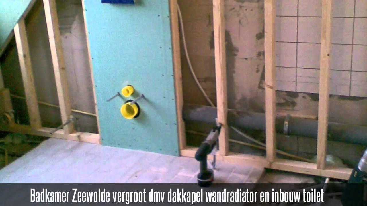 Badkamer Zeewolde vergroot dmv dakkapel wandradiator en inbouw ...