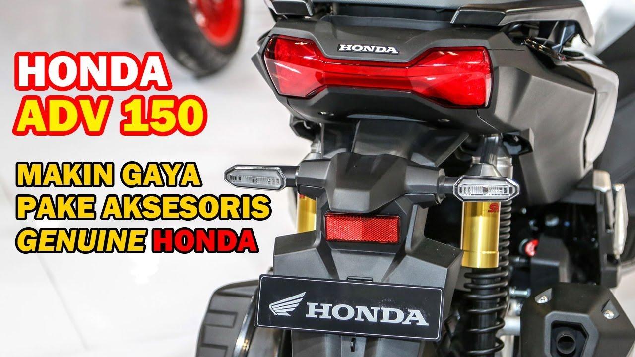 Harga Terjangkau Aksesoris Honda Adv 150 Resmi Ahm Beragam Youtube