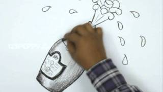 How to Draw a Champagne Bottle