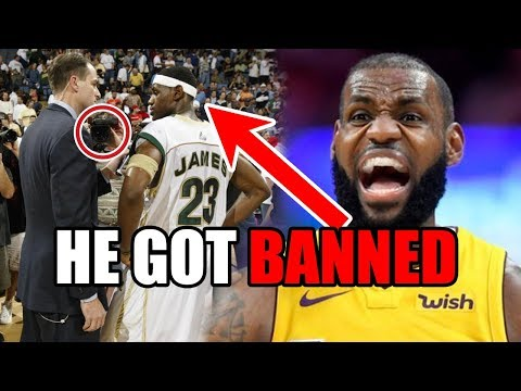 The Time LeBron James Got BANNED From Basketball