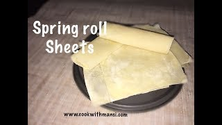 Spring Roll Sheets - Easy Homemade Spring Roll Sheets - Samosa sheets
