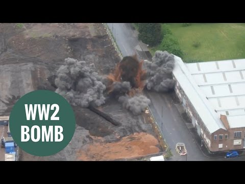 Controlled detonation carried out on WW2 bomb