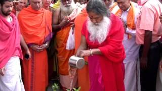 Sri Swamiji planting Parijata