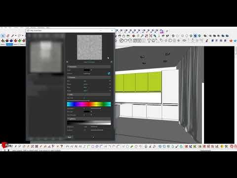SketchUp.V-ray. Настройка материалов в сцене. Эскизный рендер за 30 минут