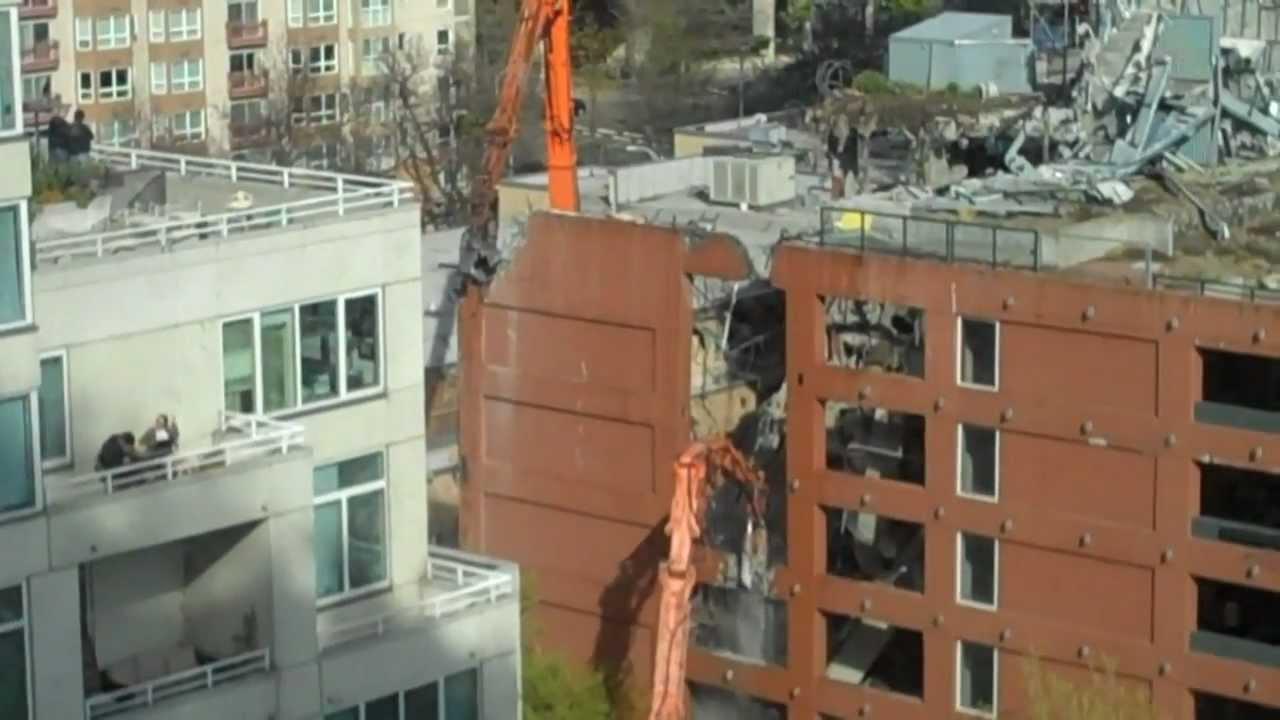 Seattle McGuire Highrise Demolition Pt. 1 - YouTube