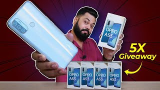 OPPO A53 Unboxing & First Impressions (5x Giveaway) ⚡⚡⚡Stereo Speakers, 90Hz Screen & More