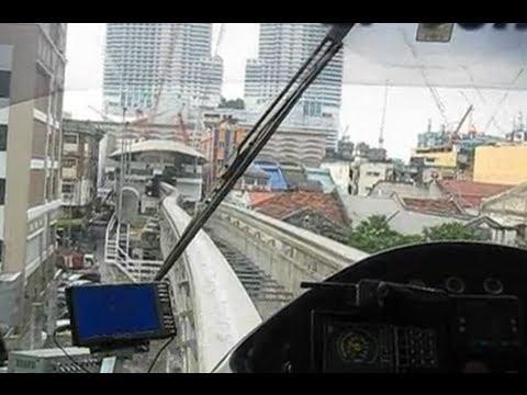 Malaysia/KL: Approaching KL Sentral on the Kuala Lumpur Monorail, leaving Tun Sambanthan