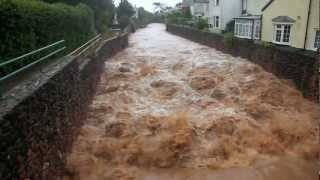 Sidmouth, Devon, UK floods