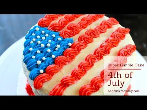 Patriotic Cake Decorating Tutorial - Super Simple Cake