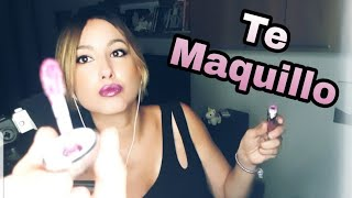 ASMR TE MAQUILLO- Tapping y susurros// Roleplay