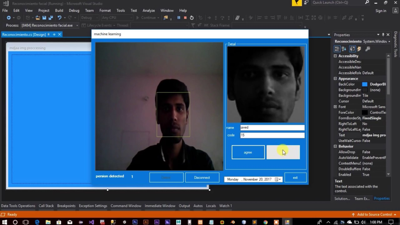 Real Time Multiple Face Detection and Recognition using OpenCV C#