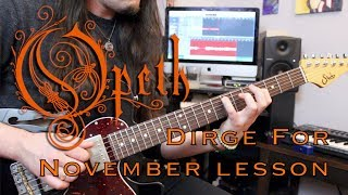 Opeth Dirge for November guitar lesson - Weekend Wankshop 207