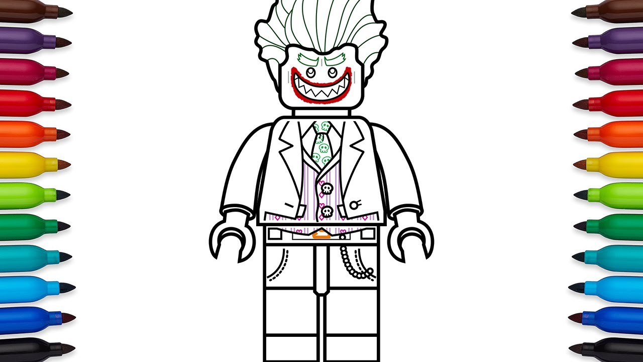 How To Draw Lego Joker From The Batman Movie