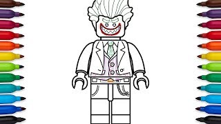 How to draw Lego Joker from the Lego Batman movie - coloring pages