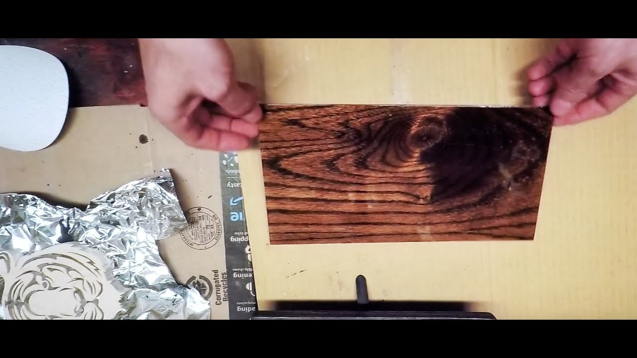 Unique Wood Finish By Tinting Wood Filler For Deep Grain