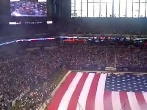 Colts vs Texans Sandi Patty National Anthem @ Lucas Oil Stadium
