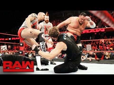 Download Youtube: The Shield brawl with Samoa Joe, Sheamus and Cesaro: Raw, Dec. 11, 2017