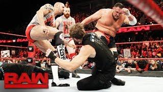 The Shield brawl with Samoa Joe, Sheamus and Cesaro: Raw, Dec. 11, 2017