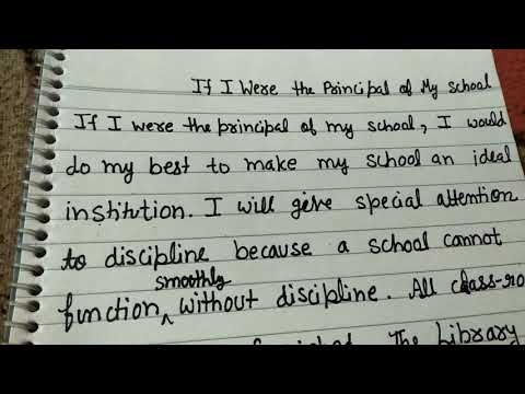 If I were principal of my school, a short paragraph, a smart