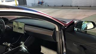 Tesla employee shows off Tesla Model 3 interior