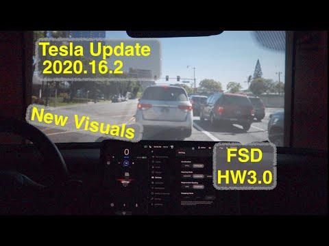 Tesla Update 2020.16.2.1 Animated Pedestrians FSD HW3.0