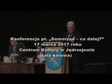 """Jerzy Stępień podczas konferencji pt """"Samorząd – co dalej?"""", 17 marca 2017 roku, Jędrzejów"""