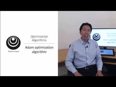 Adam Optimization Algorithm (C2W2L08)
