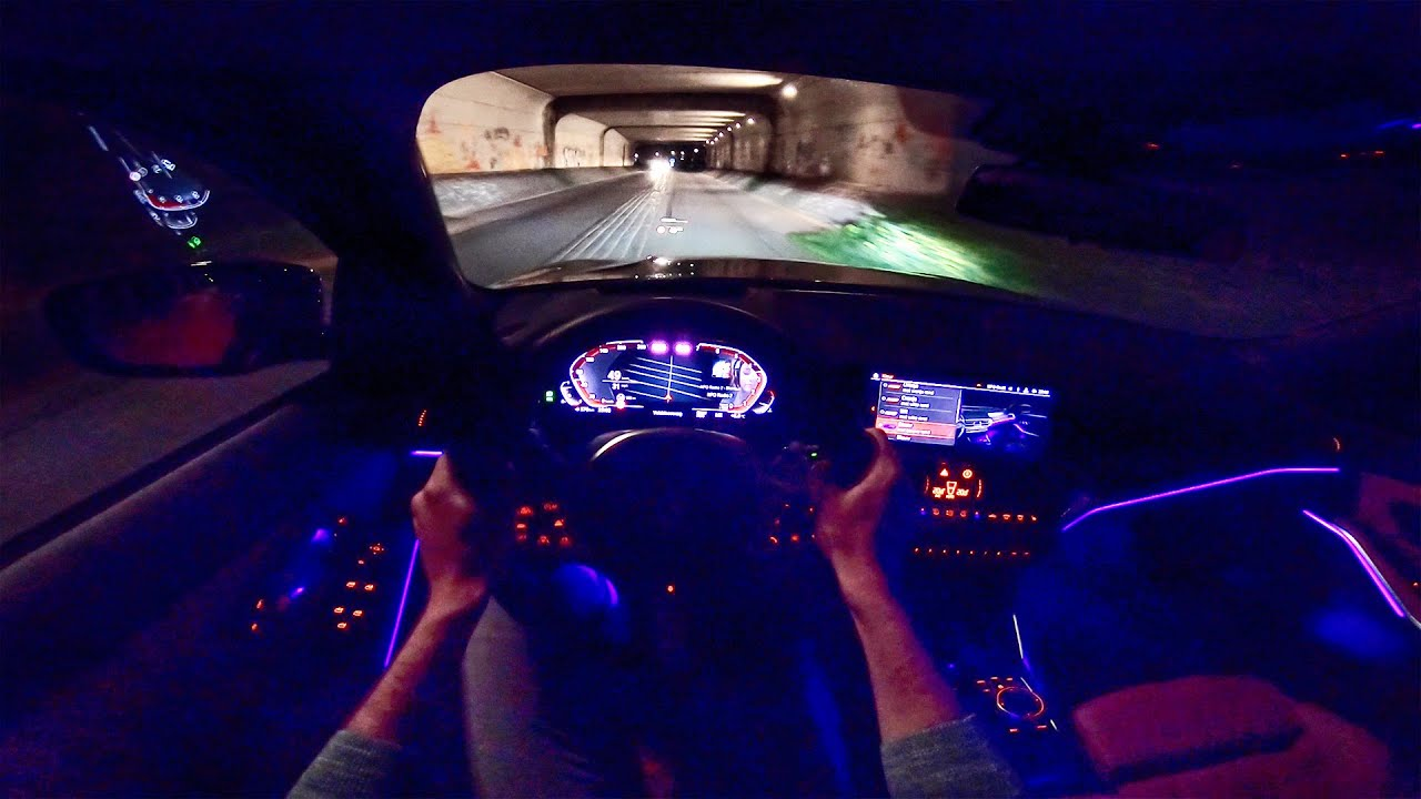 New Bmw 3 Series G20 Night Drive W Ambient Lighting By