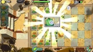 Первый бой | Растения против Зомби 2 Древний Египет: 2 уровень прохождение