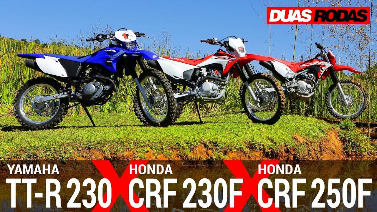 COMPARATIVO | HONDA CRF 250F x HONDA CRF 230F x YAMAHA TT-R 230