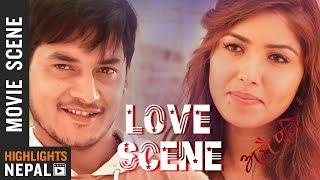 Love Scene - Pooja Sharma Ft. Sudarshan Thapa   Nepali Movie AJHAI PANI Scene