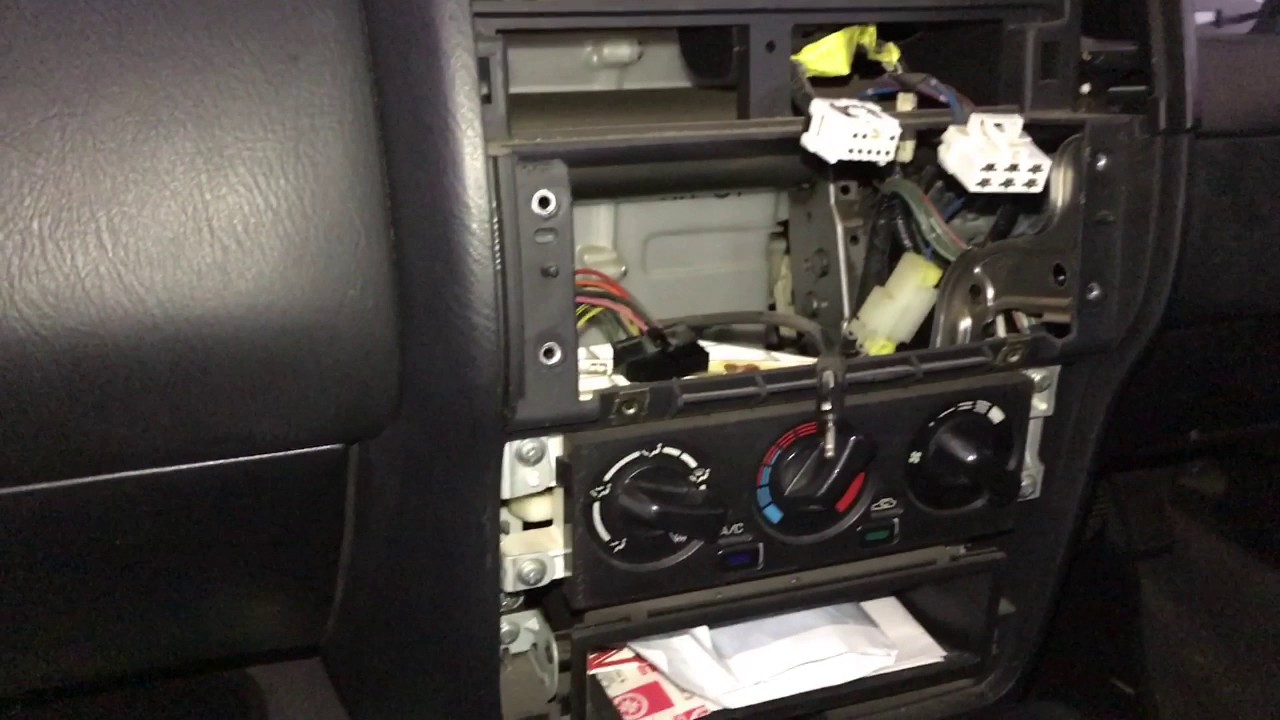 Nissan Pulsar N15 Head unit stereo remove replace wiring diagram  YouTube