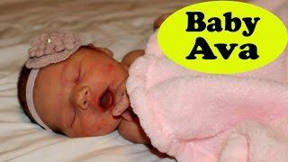 Baby Ava Newborn Flashback Family Vlog DisneyCarToys Sandra, Mike & Alex Meet Baby Sister