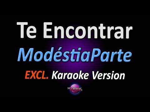 TE ENCONTRAR (Karaoke Version) - ModéstiaParte (com letra)
