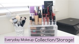 my everyday makeup collection storage