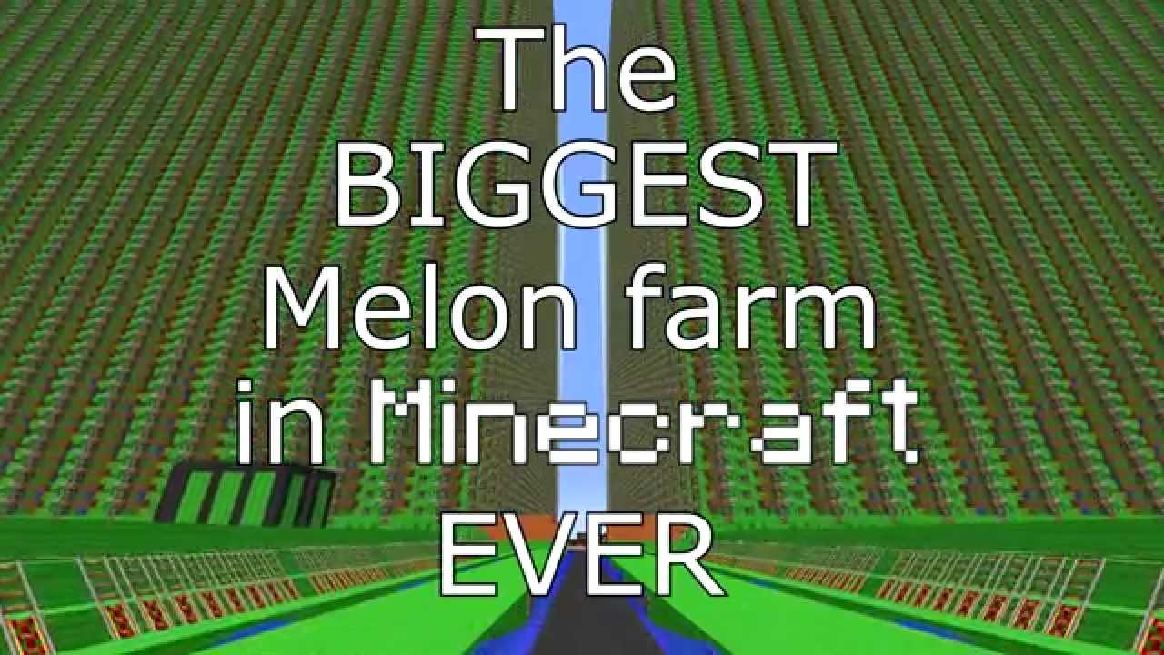 4200000 The Biggest Melon Farm EVER In Minecraft