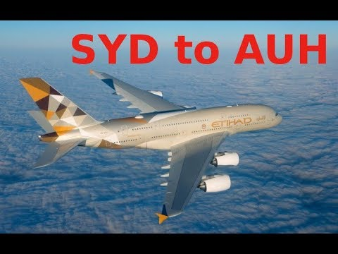 Etihad Airways EY 455 Airbus A380-800 (quad-jet) SYD to AUH (2016-01-15)