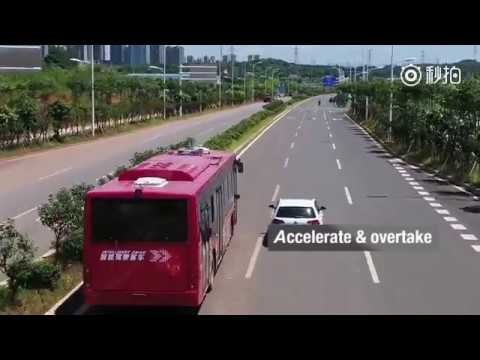 World's first electric smart bus completed road test in south China