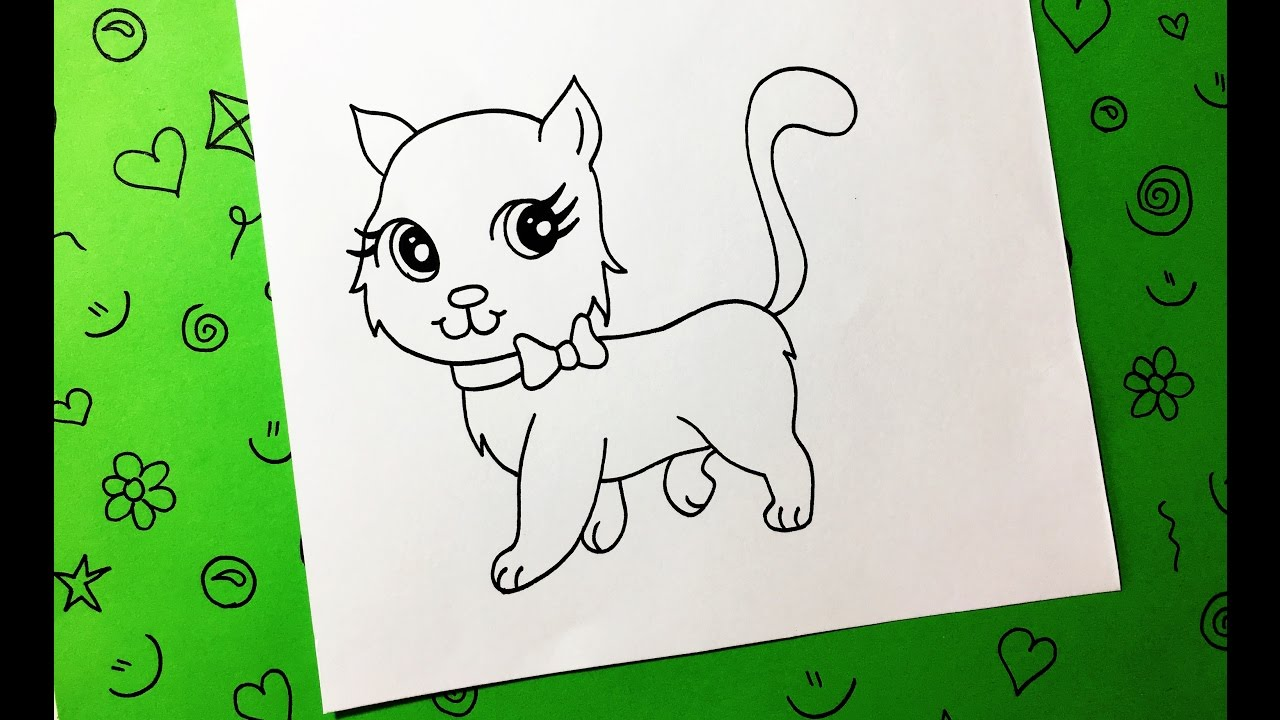 Cómo Dibujar Un Gato Paso A Paso Fácil Y Rápido How To Draw A