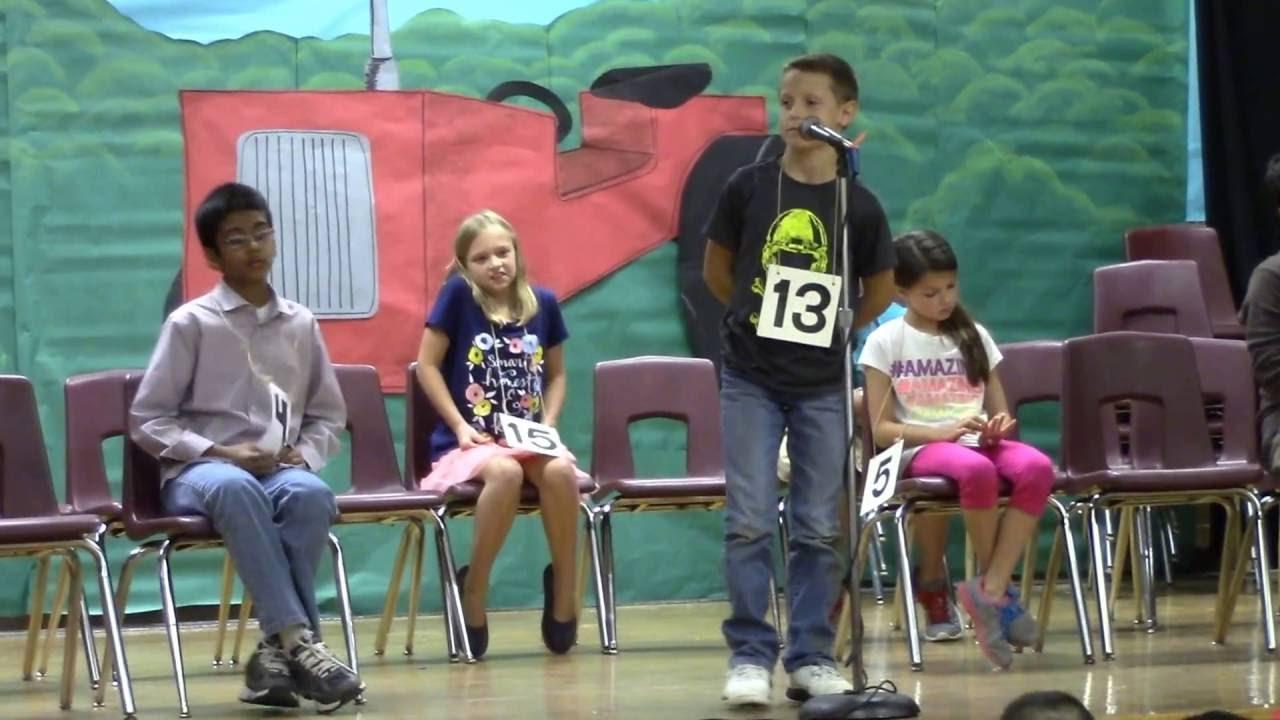 Spring Garden Elementary School Spelling Bee November 17 2016 Part 2 Youtube