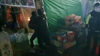 철거용역 공격 @노량진 수산시장