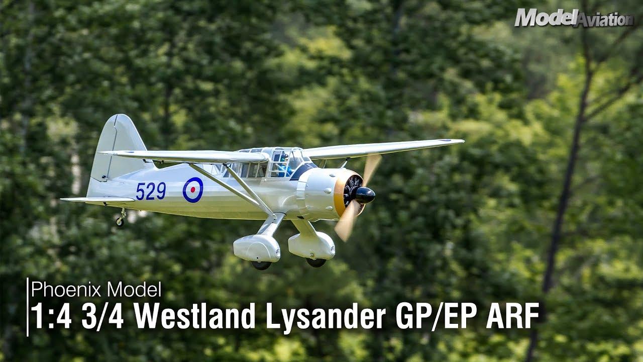 Phoenix Model 1:4-3/4 Westland Lysander Gas/EP ARF | Model Aviation