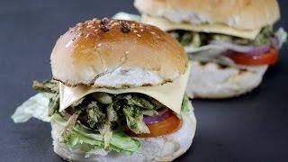 Indian Chicken Burger  Sanjeev Kapoor Khazana